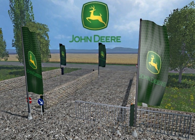 скриншот Placeable John Deere Flag v1.0  Объекты для мод карты для Landwirtschafts Simulator 2015