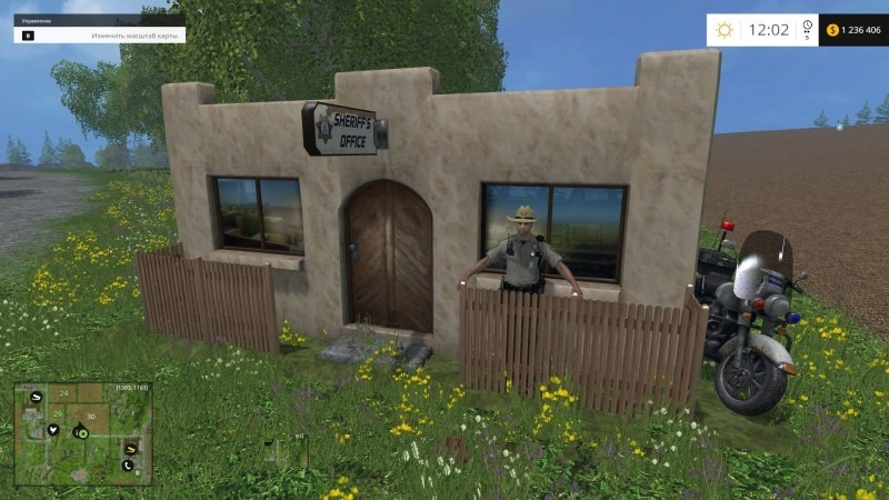скриншот Placeable Sheriff Office v1.0  Объекты для мод карты для Landwirtschafts Simulator 2015