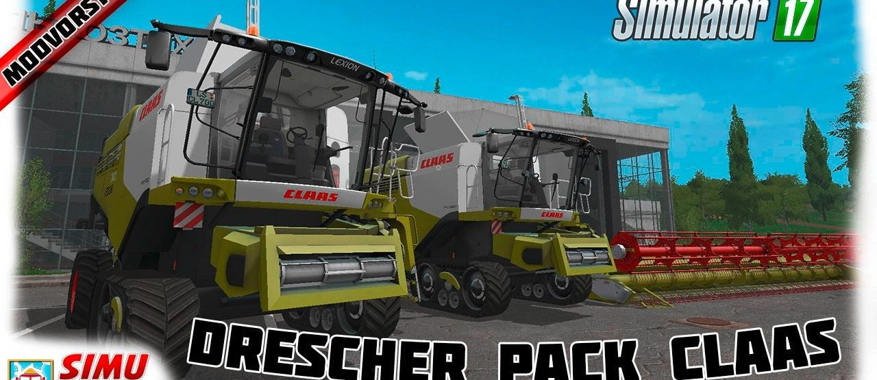 Мод Комбайны Claas Lexion 700 STAGE IV Pack v 1.4 для Farming Simulator 2017